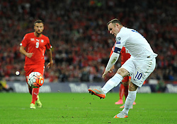 Wayne Rooney of England (Manchester United) Wayne Rooney of England (Manchester United) scores a penalty to break the all time goal scoring record for England with his 50th international goal to surpass Bobby Charlton's record. - Mandatory byline: Dougie Allward/JMP - 07966386802 - 08/09/2015 - FOOTBALL - INTERNATIONAL - Wembley Stadium - London - England v Switzerland - European Championship 2016 Qualifiers - Group E