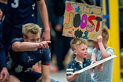 21-12-2019 NED: AVV Keistad - Lycurgus, Amersfoort<br /> 1/4 final National Cup season volleyball men, Lycurgus win 3-0 / Support Joost