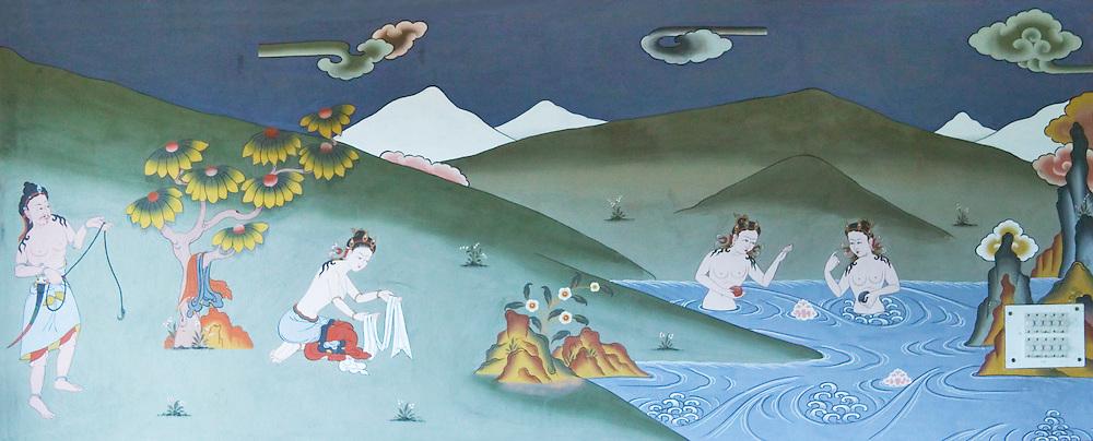 Buddhist painting, Paro, Bhutan