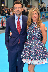 Jason Sudeikis with Jennifer Aniston arrives for the We're The Millers - European Film Premiere. Odeon, London, United Kingdom. Wednesday, 14th August 2013. Picture by Nils Jorgensen / i-Images