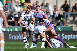 Caleb Montgomery of Worcester Warriors in action - Mandatory byline: Patrick Khachfe/JMP - 07966 386802 - 14/09/2019 - RUGBY UNION - Franklin's Gardens - Northampton, England - Premiership Rugby 7s (Day 2)
