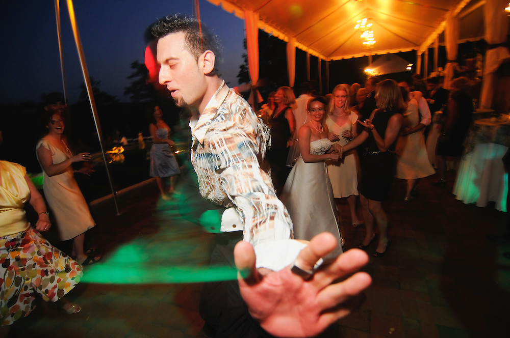 A wedding guest turns it on at a reception in Tennessee.