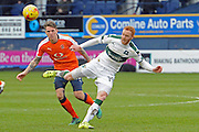 Ryan Taylor of Plymouth Argile (19) with Glen Rea of Luton Town (16) during the EFL Sky Bet League 2 match between Luton Town and Plymouth Argyle at Kenilworth Road, Luton, England on 25 February 2017. Photo by Andy Handley.