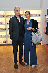 DINOS & TIPHAINE CHAPMAN at a party to launch a range of SpongeBob SquarePants suits and accessories designed by Richard James in partnership with Nickelodeon held at Richard James, 29 Savile Row, London W1 on 11th May 2011.