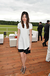 GEMMA CHAN at the Audi Polo Challenge at Coworth Park, Blacknest Road, Ascot, Berkshire on 31st May 2015.