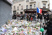Tributes continue at different sites in Paris<br /> <br /> LE PETIT CAMBODIA - TRIBUTES CONTINUE AT DIFFERENT SITES OF ATTACKS IN PARIS<br /> ©Exclusivepix Media