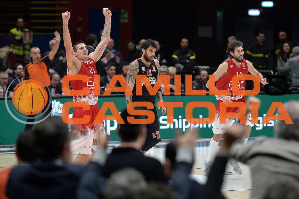 Cinciarini Andrea<br /> EA7 Emporio Armani Olimpia Milano - Olympiacos Piraeus<br /> Euroleague 2016/2017<br /> Milano 25/01/2017<br /> Foto Ciamillo-Castoria