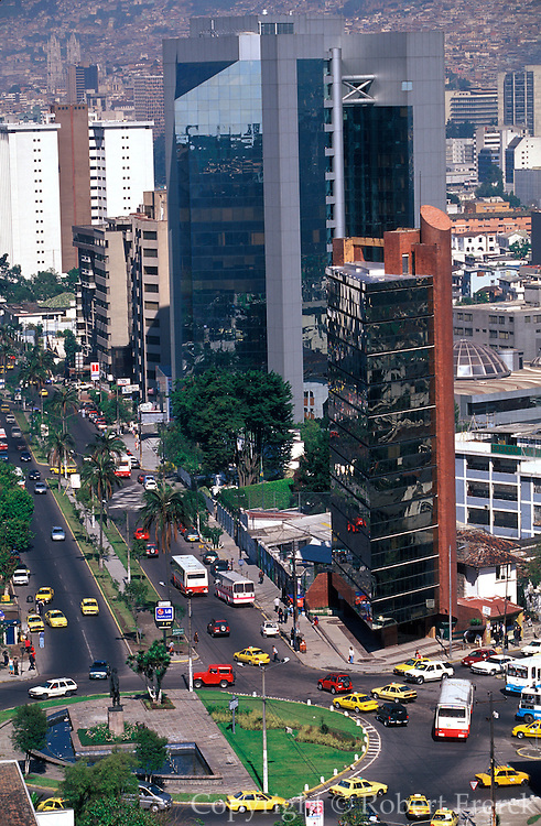 ECUADOR, QUITO, SKYLINE New Town skyscrapers, highrises