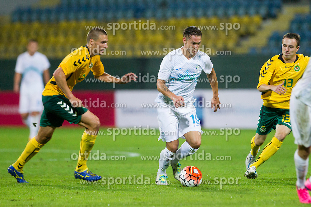 Leo Stulac #19 of Slovenia during football match between U21 National Teams of Slovenia and Lithuania in 2nd Round of UEFA 2017 European Under-21 Championship Qualification on September 4, 2015 in Arena Petrol, Celje, Slovenia. Photo by Urban Urbanc / Sportida
