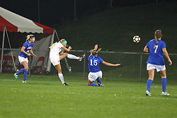 04 November 2016: Lauren Koehl(9)  during an NCAA Missouri Valley Conference (MVC) Championship series women's semi-final soccer game between the Indiana State Sycamores and the Illinois State Redbirds on Adelaide Street Field in Normal IL