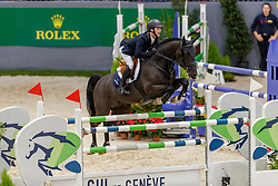 PENDER Michael (IRL), Casanova van Overis Z<br /> Genf - CHI Geneve Rolex Grand Slam 2019<br /> Prix des Communes Genevoises<br /> 2-Phasen-Springen<br /> International Jumping Competition 1m50<br /> Two Phases: A + A, Both Phases Against the Clock<br /> 13. Dezember 2019<br /> © www.sportfotos-lafrentz.de/Stefan Lafrentz