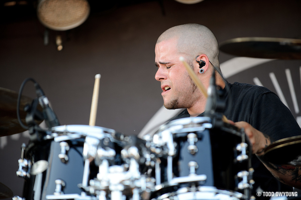 performing on the Mayhem Festival at Verizon Wireless Amphitheater in St. Louis, Missouri on July 19, 2011. © Todd Owyoung.