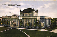Zagreb : Sveučilišna biblioteka = La bibliothéque de l' université. <br /> <br /> ImpresumZagreb : Naklada S. Marković, [između 1920 i 1929].<br /> Materijalni opis1 razglednica : tisak ; 8,9 x 13,9 cm.<br /> NakladnikNaklada S. Marković<br /> Vrstavizualna građa • razglednice<br /> ZbirkaZbirka razglednica • Grafička zbirka NSK<br /> ProjektPozdrav iz Zagreba • Pozdrav iz Hrvatske<br /> Formatimage/jpeg<br /> PredmetZagreb –– Trg Marka Marulića<br /> Nacionalna i sveučilišna knjižnica (Zagreb)<br /> SignaturaRZG-MAR-10<br /> Obuhvat(vremenski)20. stoljeće<br /> PravaJavno dobro<br /> Identifikatori000953320<br /> NBN.HRNBN: urn:nbn:hr:238:192975 <br /> <br /> Izvor: Digitalne zbirke Nacionalne i sveučilišne knjižnice u Zagrebu