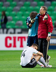 Rejected goalkeeper Oliver Schnitzler of Germany after the UEFA European Under-17 Championship Final match between Germany and Netherlands on May 16, 2012 in SRC Stozice, Ljubljana, Slovenia. Netherlands defeated Germany after penalty shots and became European Under-17 Champion 2012. (Photo by Vid Ponikvar / Sportida.com)