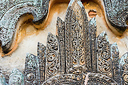 Detail of a temple in Bagan, Myanmar (Burma).