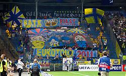 24.08.2011, UPC Arena, Graz, AUT, CL-Playoff, SK Sturm Graz vs. Bate Borisow, im Bild Fans von Bate, EXPA Pictures © 2011, PhotoCredit: EXPA/ Erwin Scheriau