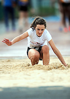 20 Aug 2016: Lia Farley, from Cork, 2nd in the Girls Long Jump U14.  2016 Community Games National Festival 2016.  Athlone Institute of Technology, Athlone, Co. Westmeath. Picture: Caroline Quinn