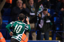 BOLTON, ENGLAND - Thursday, March 6, 2008: Sporting Clube de Portugal's Simon Vukc?evic? celebrates scoring the equaliser against Bolton Wanderers during the UEFA Cup Round of 16 1st Leg match at the Reebok Stadium. (Pic by David Rawcliffe/Propaganda)
