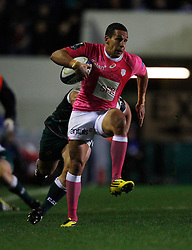 Julien Arias of Stade Francais in action - Mandatory byline: Jack Phillips / JMP - 07966386802 - 13/11/15 - RUGBY - Welford Road, Leicester, Leicestershire - Leicester Tigers v Stade Francais - European Rugby Champions Cup Pool 4