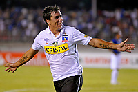 20100224: BELO HORIZONTE, BRAZIL - Cruzeiro vs Colo Colo: Copa Libertadores 2010. In picture: Esteban Paredes (Colo Colo) celebrating goal. PHOTO: CITYFILES