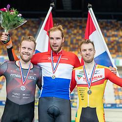 22-12-2019: Wielrennen: NK Baan Omnium: Apeldoorn<br />Podium Mannen Jan Willem van Schip, Roy Eeftink, Yoeri Havik
