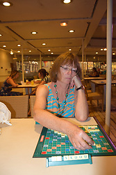 Playing scrabble on a cruise ship, July 2018 MR