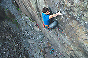 "Ignacio Mulero made the first repeat of ""The Meltdown""  in Twll Mawr, Llanberies Slate Quarries in Snowdonia, North Wales."