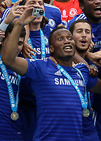 Football - 2014 / 2015 Premier League - Chelsea vs. Sunderland.   <br /> <br /> Chelsea's Didier Drogba  at Stamford Bridge. <br /> <br /> COLORSPORT/DANIEL BEARHAM