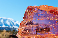 Red Raw Glass and Sleeping Ute Mountain. Image taken with a Nikon D3 camera and 24-70 mm f/2.8 lens (ISO 200, 70 mm, f/22, 1/250 sec). Raw image processed with Capture One Pro, Focus Magic, and Photoshop CC.
