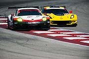 May 4-6, 2017: IMSA Sportscar Showdown at Circuit of the Americas. 912 Porsche GT Team, Porsche 911 RSR, Laurens Vanthoor, Wolf Henzler, 3 Corvette Racing, Corvette C7.R, Antonio Garcia, Jan Magnussen