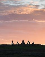 Heimskautagerði on Melrakkaás, Raufarhöfn, Northeast Iceland.