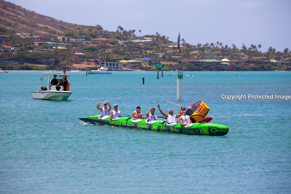 Canoe race, Molokai to Oahu, Hawaii