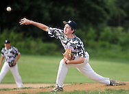 Newtown pitcher Dave Lawall throws a pitch against Yardley Morrisville in the first inning at Council Rock North High School Tuesday June 30, 2015 in Newtown, Pennsylvania. (Photo by William Thomas Cain)