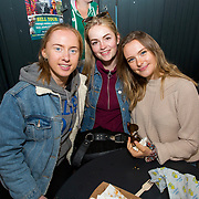 14.06.2018.             <br /> Limerick Food Group hosted the Urban Food Fest street food evening in the Milk Market on Thursday June 14th with a 'Summer Fiesta' theme in one big Limerick city summer party.<br /> <br /> Pictured at the event were, Karen Gallagher, Dervla O'Neill and Jennifer Wise. Picture: Alan Place