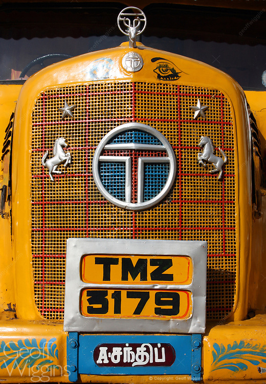 1950s vintage Indian Tata Benz truck in Tamil Nadu, India
