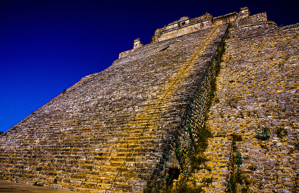 Pyramid of the Magician, Uxmal archeaological site, Yucatan Peninsula, Mexico