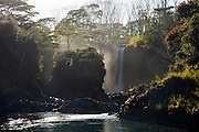Pe'epe'e Falls, Wailuku River. Boiling Pots, The Big Island of Hawaii