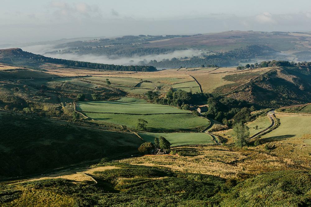 Landscape around Stanage Edge.