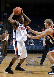 Virginia Cavaliers G Jeff Jones (1)..The Virginia Cavaliers men's basketball team defeated the Carson-Newman Eagles 124-65 in an exhibition basketball game at the John Paul Jones Arena in Charlottesville, VA on November 4, 2007.