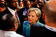 The DNC Convention in Denver will make Obama their candidate.<br /> <br /> <br /> <br /> New York Senator Hillary Clinton pleading to have the roll call decided by acclamation.