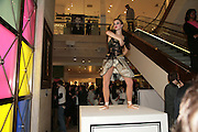 Dancing Girl, Surrealism at Selfridges. London. 22 March 2007.  -DO NOT ARCHIVE-© Copyright Photograph by Dafydd Jones. 248 Clapham Rd. London SW9 0PZ. Tel 0207 820 0771. www.dafjones.com.