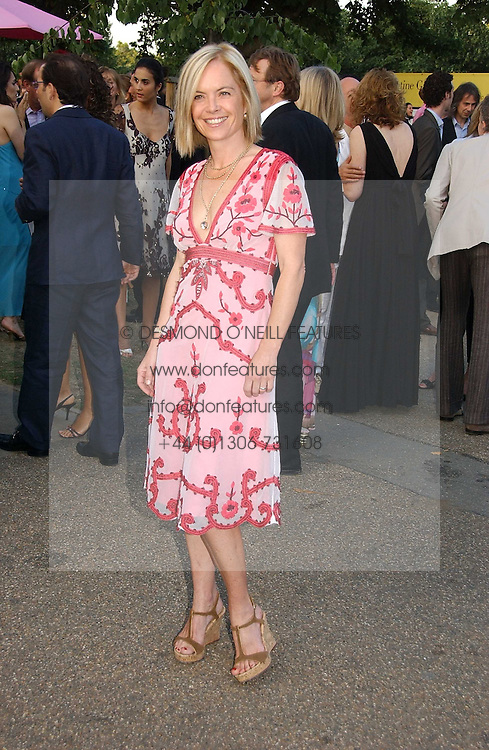 MARIELLA FROSTRUP at the Serpentine Gallery Summer party sponsored by Yves Saint Laurent held at the Serpentine Gallery, Kensington Gardens, London W2 on 11th July 2006.<br />