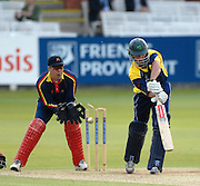 London, GREAT BRITAIN, Europes Kyle McCALLAn id bowled for 25, by John STEPHENSEN, during the MCC vs Europe Match at Lords Cricket ground, England on Thur 07.06.2007  [Photo, Peter Spurrier/Intersport-images].....