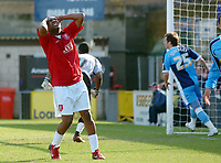 Photo: Kevin Poolman.<br />Wycombe Wanderers v Walsall. Coca Cola League 2. 17/03/2007. Hector Sam of Walsall (left) has a chance just go wide.