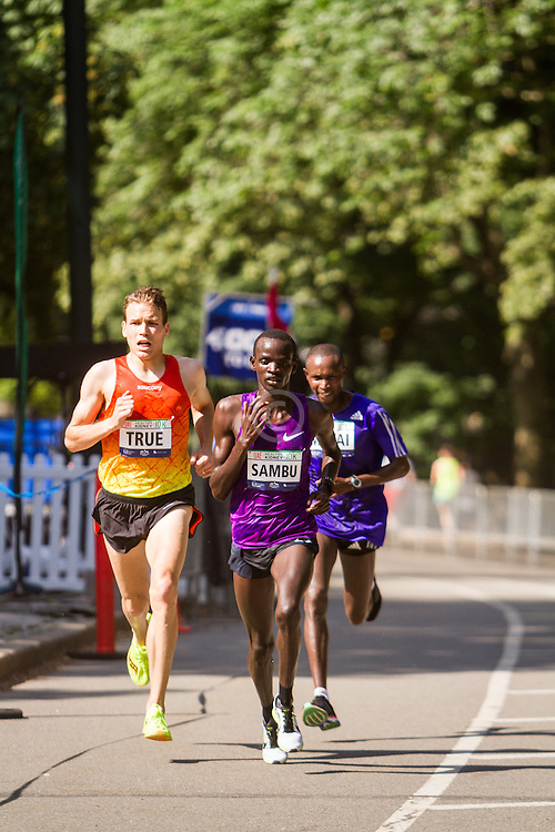UAE Healthy Kidney 10K, True, Sambu, Mutai with quarter mile to go