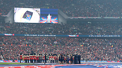 The FA Cup Hymn Abide With Me is sung - Mandatory by-line: Robbie Stephenson/JMP - 21/05/2016 - FOOTBALL - Wembley Stadium - London, England - Crystal Palace v Manchester United - The Emirates FA Cup Final