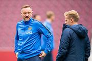 Kris Boyd (#9) of Kilmarnock FC before the Ladbrokes Scottish Premiership match between Heart of Midlothian and Kilmarnock at Tynecastle Stadium, Gorgie, Scotland on 4 May 2019.