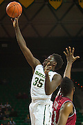 WACO, TX - DECEMBER 17: Johnathan Motley #35 of the Baylor Bears drives to the basket against the New Mexico State Aggies on December 17, 2014 at the Ferrell Center in Waco, Texas.  (Photo by Cooper Neill/Getty Images) *** Local Caption *** Johnathan Motley