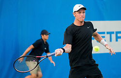 Markus Eriksson (SWE) during Day 6 at ATP Challenger Zavarovalnica Sava Slovenia Open 2018, on August 8, 2018 in Sports centre, Portoroz/Portorose, Slovenia. Photo by Vid Ponikvar / Sportida