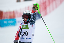 Wood Spencer of USA during Slalom race at 2019 World Para Alpine Skiing Championship, on January 23, 2019 in Kranjska Gora, Slovenia. Photo by Matic Ritonja / Sportida